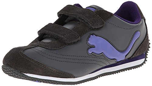 PUMA Speeder Illuminescent Kids Sneaker (Infant/Toddler/Little Kid), Dark Shadow/Blue Iris/Parachute Purple, 4 M US Toddler (Light Blue Puma Sneakers compare prices)