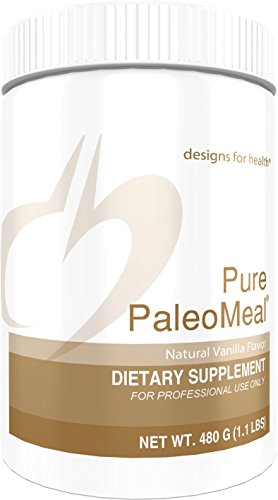 Designs for Health - Pure PaleoMeal Vanilla - Complete Powder + HydroBEEF Bone Broth Protein Peptides + Active Folate + Chelated Minerals, 480 Grams