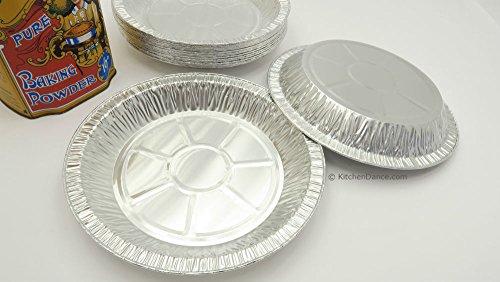 KitchenDance 9'' Medium Depth Disposable Pie Pans- 1'' deep- 24 oz. Capacity (500) by KitchenDance (Image #1)