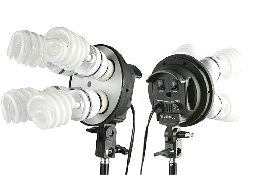 Fancierstudio 2400 watt lighting kit softbox light kit video lighting kit with Background stand 6'x9' Black, White and Chromakey green backdrop by Fancierstudio UL9004S3 6x9BWG by Fancierstudio (Image #3)