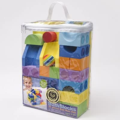21 Piece Ball Run Set In Reusable Storage Bag by Just Think Toys