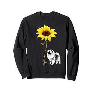 Keeshond Mom Gift - Dalmatian My Sunshine Sunflower Sweatshirt 30