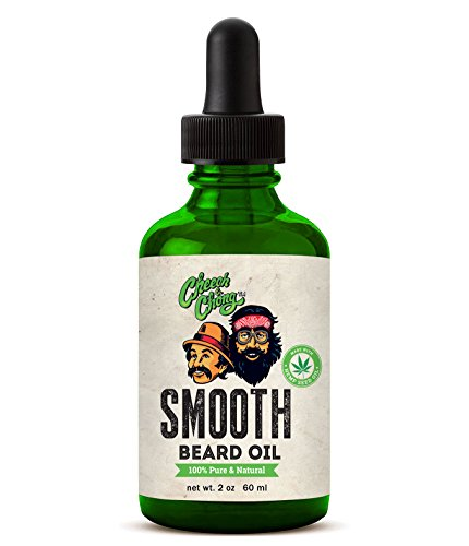 Cheech and Chong SMOOTH Beard Oil Made With Hemp Seed Oil - Unscented (2 oz) 100% Pure & Natural Beard & Mustache Oil Smooths, Softens, Adds Shine, Conditions and Moisturizes All Facial Hair ()