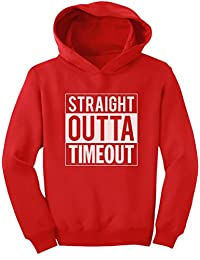 TeeStars - Straight Outta Timeout Funny Kids Toddler Hoodie 2T Red