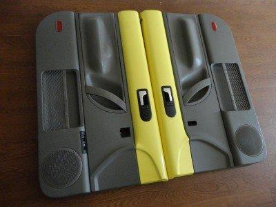98 09 Vw New Beetle Door Panels Yellow Grey 2002 Pair