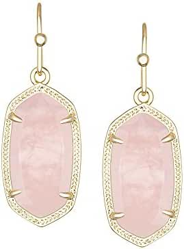 Kendra Scott Signature Petite Dani Earrings in Rose Quartz & Gold Plated