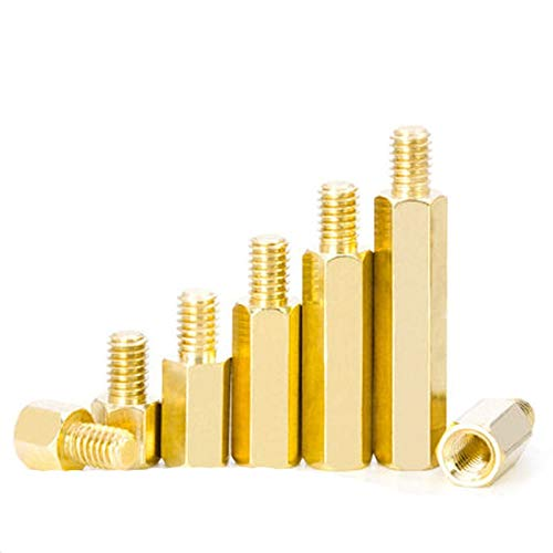 Ochoos 10pcs M2 Brass Hexagonal Pillars Single-Head Standoff Spacer Column Single-Pass Stud Main Board Isolated Chassis 16mm-30mm L - (Dimensions: M2x18mm-3mm (10pcs)) ()