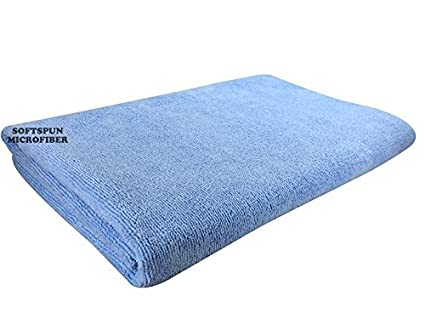 SOFTSPUN Microfiber Bath and Hair Care Towel, 60X120cms (Sky Blue)