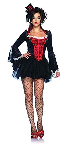 Adult Transylvania Vampire Costumes (GTH Women's Transylvania Temptress Vampire Outfit Fancy Dress Sexy Costume, M/L (10-14))