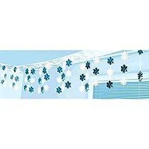 "Winter Wonderland Christmas Snowflake Ceiling Party Decorations, Foil, 12"" x 10'"