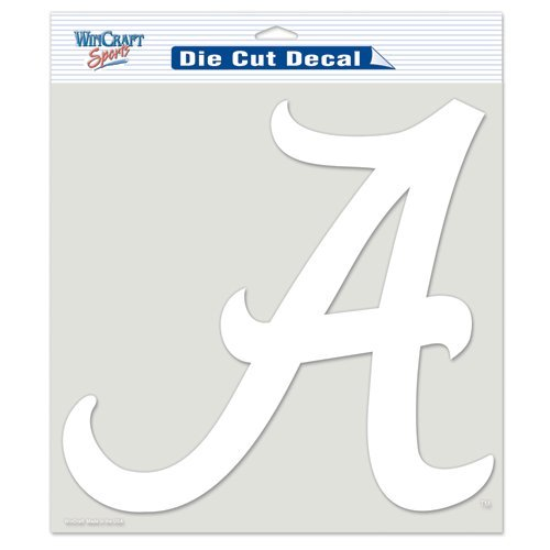 Alabama Crimson Tide NCAA Vinyl Die Cut Window Decal Auto Car Logo White 8x8 Sticker College Licensed Team Logo