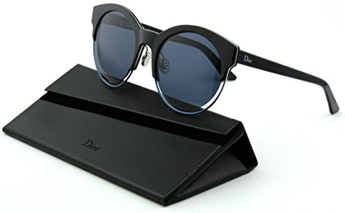 Dior Sideral/1S Woman Round Sunglasses (Black Blue Frame, Blue Avio Lens - Sunglasses Dior Sideral