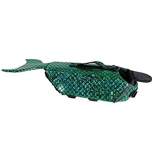 CHUCHU Dog Life Jacket-Pet Floatation Preserver Vest-Adjustable Belt Swimsuit Reflective Vest Saver Fish Design for Swimming, Boating, Hunting   (S, M, L)