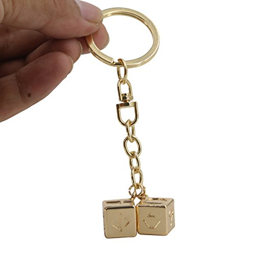 W.DRIZZEL Men's Lucky Charms DICE Costumes Charms Jewelry for Cosplay Costumes Replica Accessories (keychain) ()