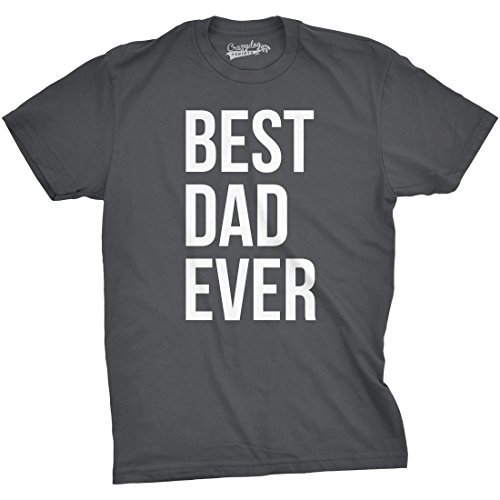 Mens Best Dad Ever T Shirt Funny Sincere Parenting Tee for Fathers (Dark Heather Grey) - XL