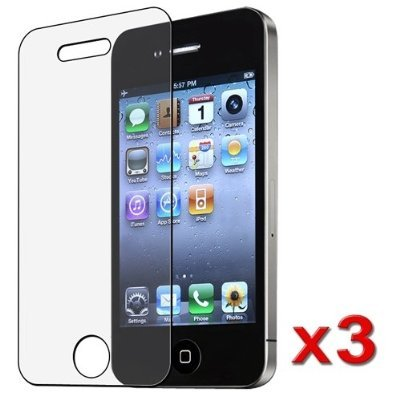 BlastCase 3 Pack iPhone 4 / 4S Anti-Glare, Anti-Scratch, Anti-Fingerprint - Matte Finishing Screen Protector