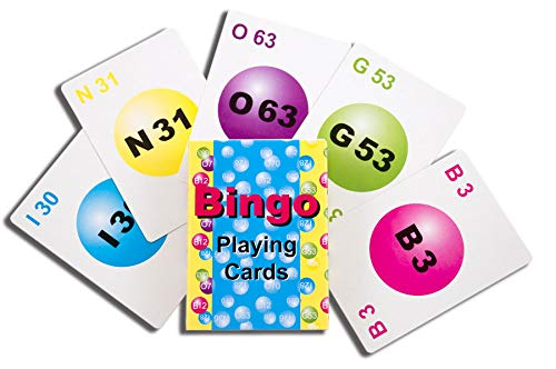 United Novelty プロフェッショナルデッキビンゴ通話カード 75枚のカードデッキ 5色 B07GCS7TY5