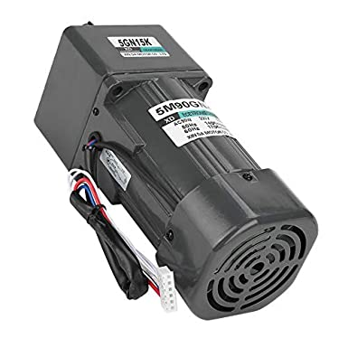 100K AC220V 90W Reversible CW//CCW Gear Reduction Motor High Torque Speed Reducing Gearbox Motor with Governor