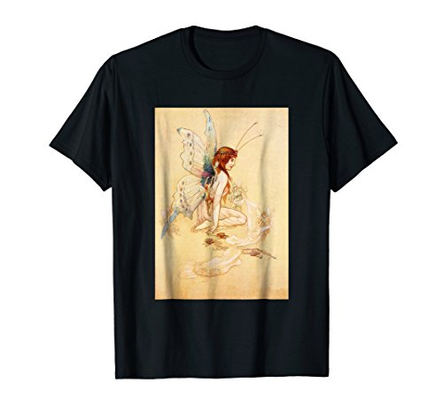 (Art Nouveau Butterfly Winged Fairy Whimsical T Shirt)