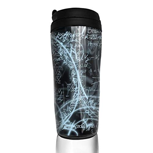 Rundehuahui Travel Coffee Mug Math Insulated Thermos Stylish Portable Flask Car Cup,Accompanying Drink Bottle for Milk Water Tea,Keep Warm/Cold]()