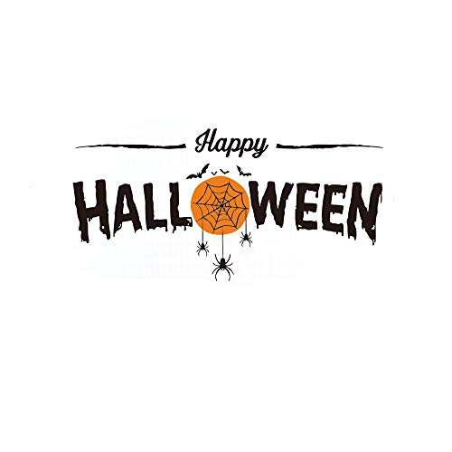 Lovfa 3D Happy Halloween Decorations Wall Decor DIY Wall Sticker Decal Spider Bat Removable Home Decoration Art Mural Wallpaper (Design 1) for $<!--$4.99-->