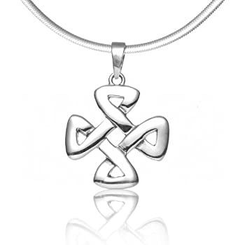 Amazon.com: 925 Sterling Silver Celtic Knot Strength ...