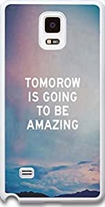 Galaxy Note 4 Case Dseason, Samsung Galaxy Note 4 Case New Slim Hard Unique Design Christian Quotes tomorrow is going to be amazing