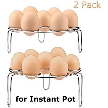 K-Steel Electric Pressure Cooker Steam Rack Cooking Ware Steaming Rack Stand,2Pcs/Set,Egg Cooker EggAssist