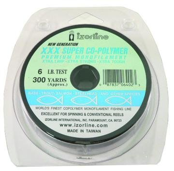 Izorline 64054 XXX Super Co-Polymer Mono Line, 12 lb/300 yd, Smoke For Sale