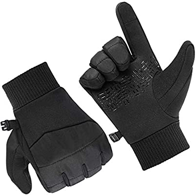 Cylcing Outdoor Ideal for Sport Breathable Lightweight Warm Touch Screen Gloves Fazitrip Winter Gloves Running Mens Womens Thermal Gloves Walking