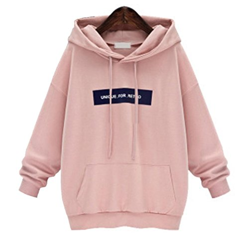 23b9006216e97 Mr. Macy Hot Sale Large Size Hooded Letters Loose Bat Long-Sleeved Sweater  Womens Long Sleeve Hoodie Sweatshirt Jumper Hooded Pullover Tops Blouse (L