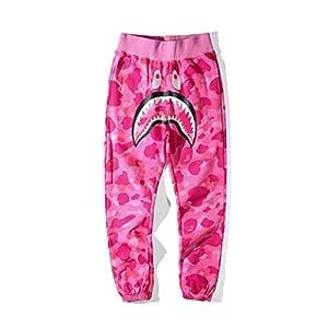 W&TT Ape Bape para Mujer Big Mouth Shark Head Plus Pantalones de ...