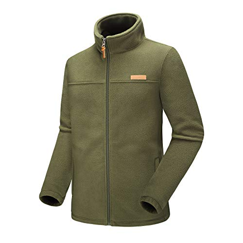 Kolongvangie Men's Thermal-Lined Fleece Granite Mountain Fleece Jacket Black Army Green Blue