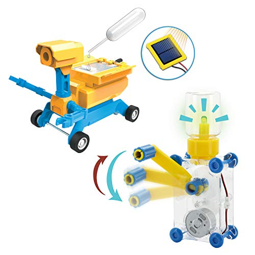 Tenergy ODEV Dynamo and GEO, Educational STEM Building Toys, Solar, Salt Water Energy Science Experiments Kits for Kids Age 8+ ()
