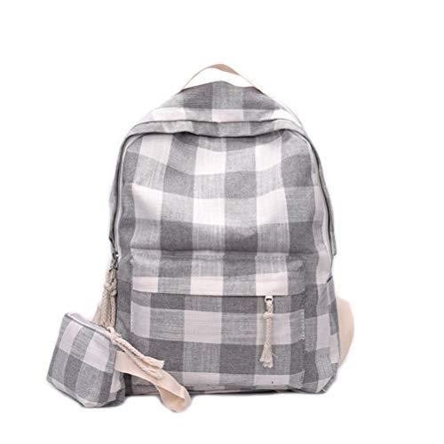 Backpack mano Outdoor Studente Vhvcx D Wild Plaid Bag Portable Shoulder Simple qEfaRx6