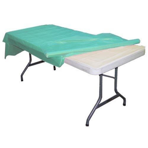 Aqua plastic table roll 40in. x 100in.