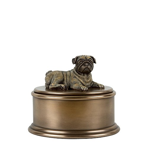 Perfect Memorials Pug Figurine Cremation Urn by Perfect Memorials