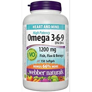 Webber naturals omega 3 6 9 flaxseed fish for Fish flax and borage oil