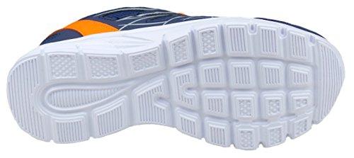 gibra - Zapatillas de running de sintético/textil para hombre dunkelblau/neonorange