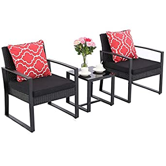 Amazon.com: HTTH - Juego de 2 taburetes de bar para patio ...