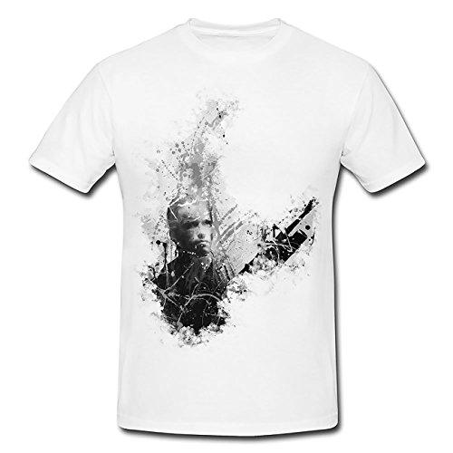 Predator Arnold Schwarzenegger I Art T-Shirt Herren, weiß mit Aufdruck