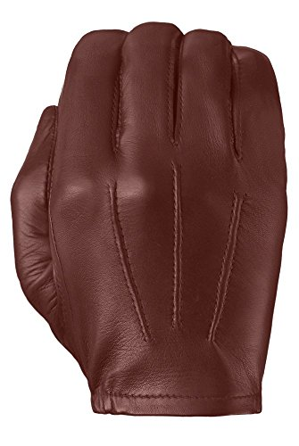 Tough Gloves Men's Ultra Thin Patrol Cabretta unlined leather gloves Size 9 Color Chestnut
