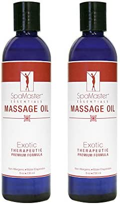 Master Massage Spamaster Essentials Exotic Massage oil, 8 oz Bottles, 2 Count