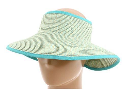 San Diego Hat Company Women's UBV002 Sun Hat Visor Multi Aqua One Size (Brim Sun Visor)
