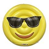 I EM JI Cool Emoji Pool Floats for Adults and Children - Giant Pool Floatie - Sunglasses Emoji Pool Toy