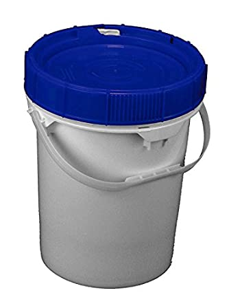 Life Latch 5 Gallon Screw Top Food Grade Bucket With Blue Lid 3