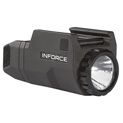 InForce APLc Compact WML Weapon Mounted White Light For Glock Auto Pistol 200 Lumens Black ACG-05-1 - Includes 3x CR2 Viridian Batteries and 1 Lumintrail Key-Chain Light