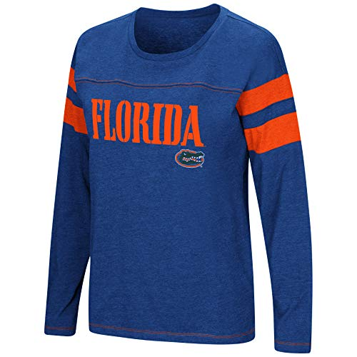 Colosseum Women's NCAA-Game of My Life-Dolman Long Sleeve Tee-Florida Gators-Blue-XL