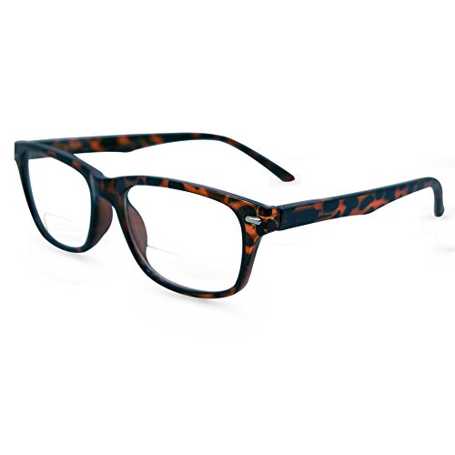In Style Eyes Seymore Retro BiFocal Reading Glasses Clear Tortoise 3.25 ()