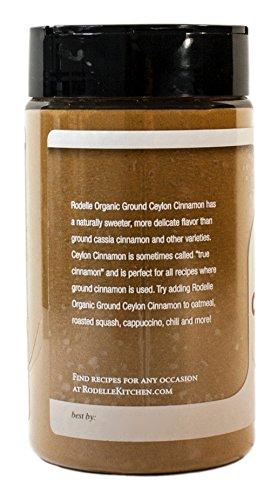 Rodelle Organic Ground Ceylon Cinnamon, 7 Ounce